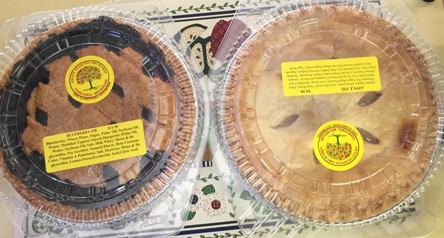 Sweet Seasons pies